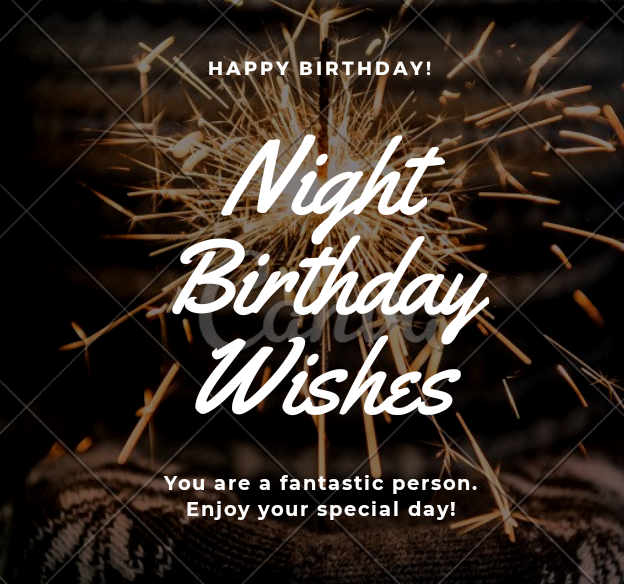 Night Birthday Wishes